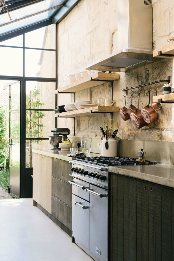 Award winning rustic English country kitchen design by deVOL with Sebastian Cox cabinets handmade in Leicestershire from English beech. #deVOL #kitchendesign #englishcountry #rustickitchen #bespokekitchen
