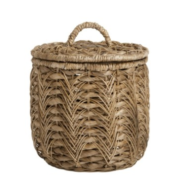 Banana leaf basket with lid