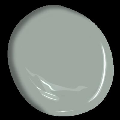 A gorgeous soft grey-green paint color: BENJAMIN MOORE Greyhound. #benjaminmooregreyhound #greypaintcolor #paintcolors #interiordesign