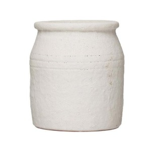 Cream distressed terracotta pot