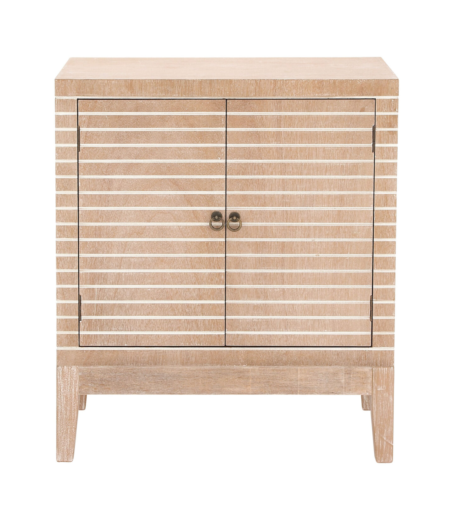 Decmode striped wood cabinet