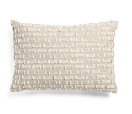 Devi embroidered twist pillow