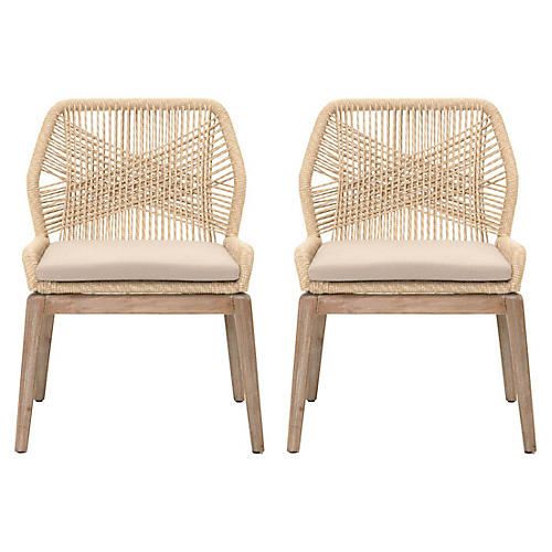 Easton side chairs rope cross weave