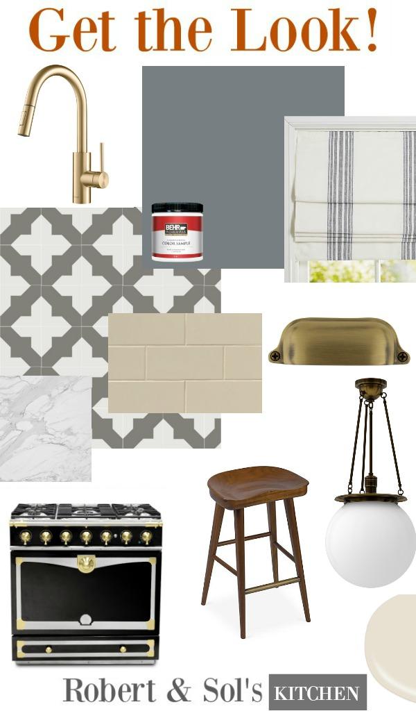 Robert and Sol's kitchen on Grace & Frankie - get the look with ideas here! #robertandsol #graceandfrankie #getthelook #interiordesign #spanishkitchen #kitchendesign