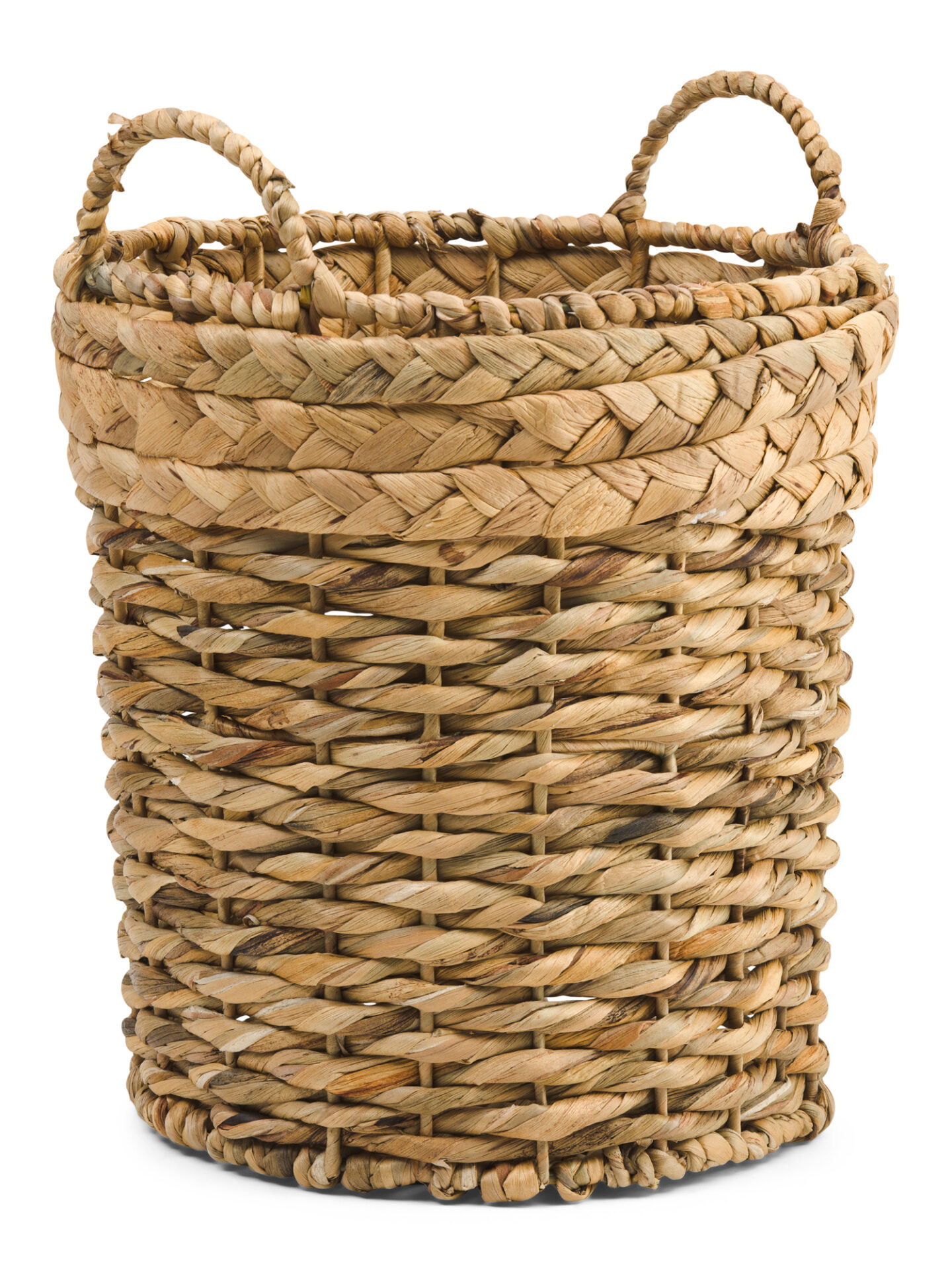 Handled twist braid basket