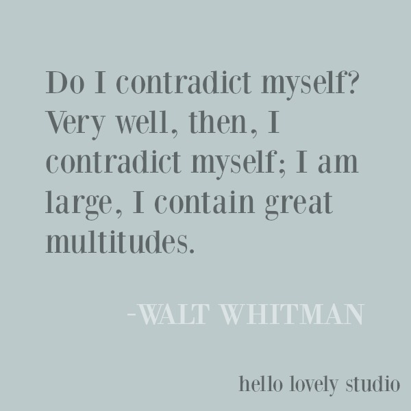 Inspirational quote from Walt Whitman on Hello Lovely Studio. #inspirationalquote #waltwhitman #quotes