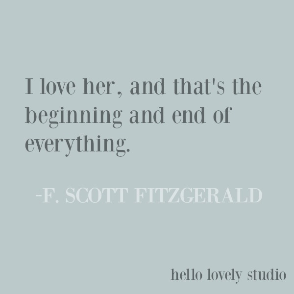 Inspirational quote by Fitzgerald about love on Hello Lovely Studio. #quotes #fitzgerald #lovequote #inspirationalquote