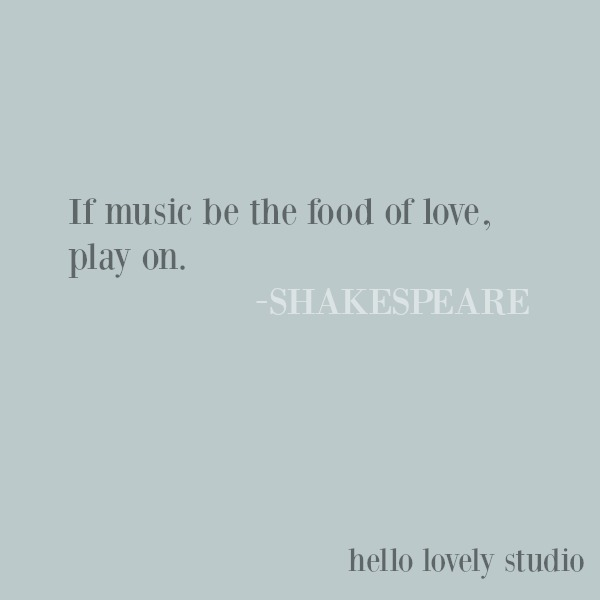 Inspirational love quote from Shakespeare on Hello Lovely Studio. #quotes #shakespeare #inspirationalquote #lovequote