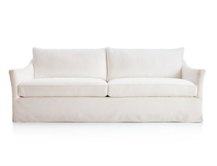 Keely White Slipcovered Sofa - Crate & Barrel