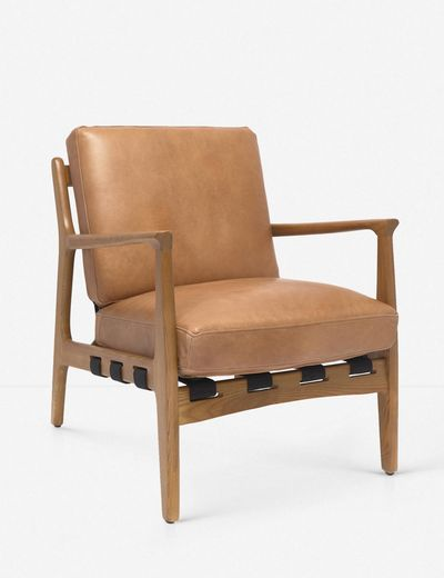 Kenneth leather chair in brown