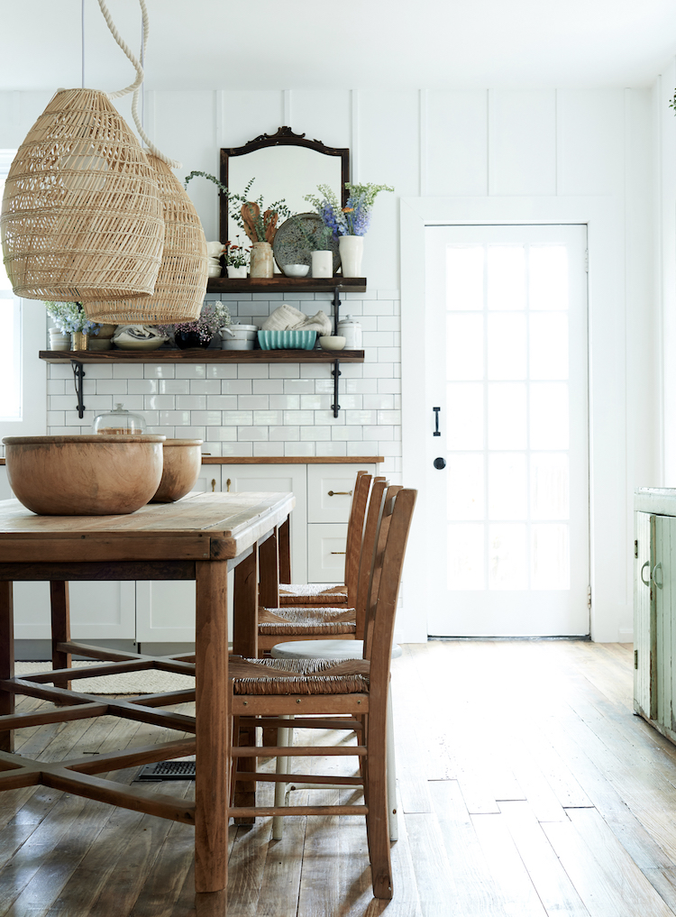 A glorious modern rustic farmhouse kitchen by Leanne Ford for the Faraci family on Restored by the Fords. #restoredbythefords #leanneford #interiordesign #farmhousekitchen #modernfarmhouse #kitchendesign