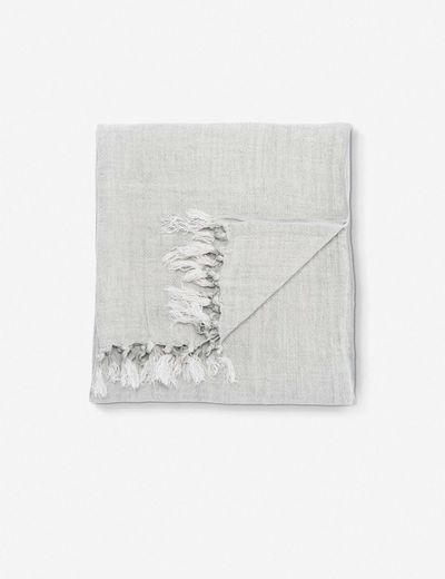 Malea Linen throw in gray
