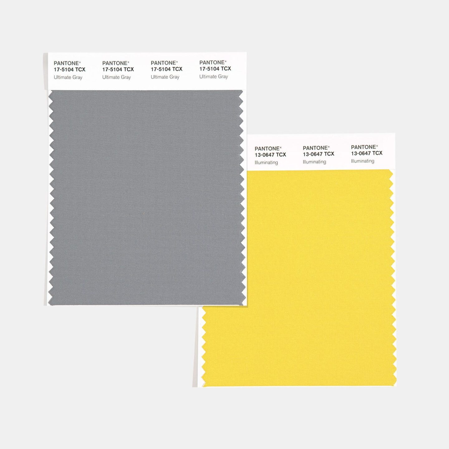The combination of PANTONE 17-5104 Ultimate Gray + PANTONE 13-0647 Illuminating is aspirational and gives us hope. We need to feel that everything is going to get brighter – this is essential to the human spirit.