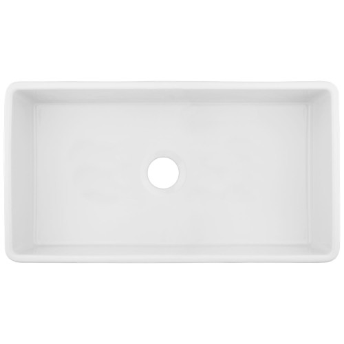 Signature Hardware Reinhard fireclay farm sink. #farmsink #apronfront #kitchensinks #farmhousekitchendesign