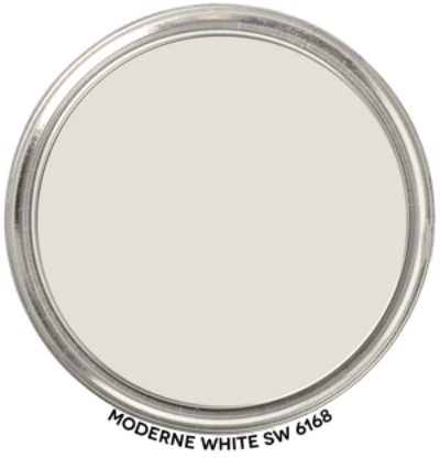 Sherwin Williams Moderene White paint color. #sherwinwilliamsmodernewhite #paintcolors #whitepaintcolor #bestwhitepaintcolor