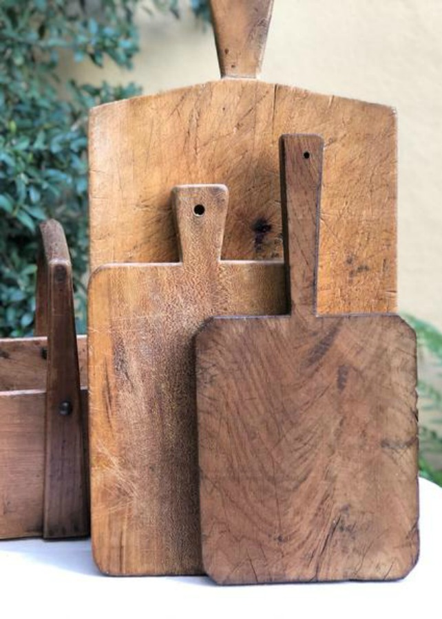 Vintage wood rustic cutting boards