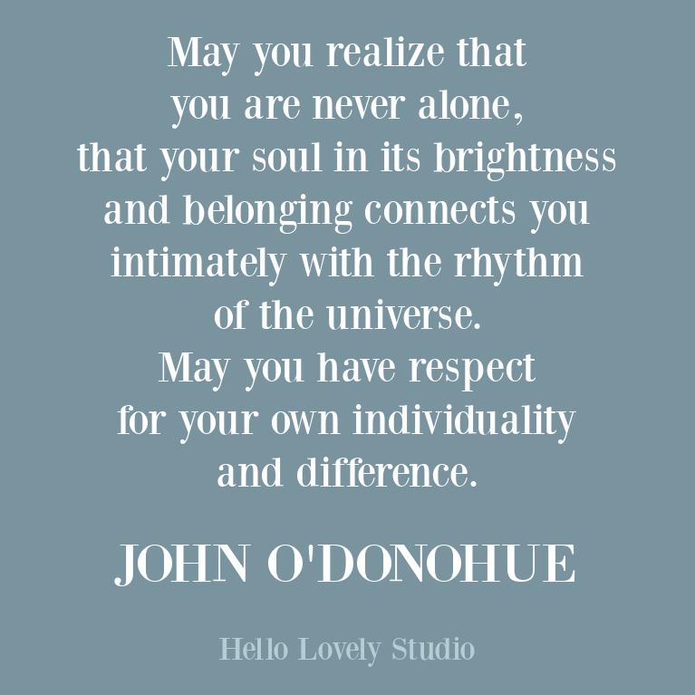 John O'Donohue encouraging inspirational quote about the soul. #soulquotes #inspirationalquote #encouragementquotes