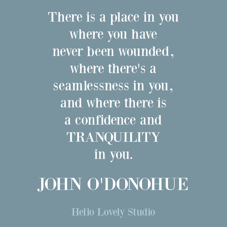 John O'Donohue inspirational quote about the inner life, contemplation, and beauty. #inspirationalquote #poetry #johnodonohue
