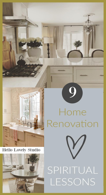 9 home renovation spiritual lessons on Hello Lovely Studio. #homerenovation #spiritualjourney #soulfuldesign