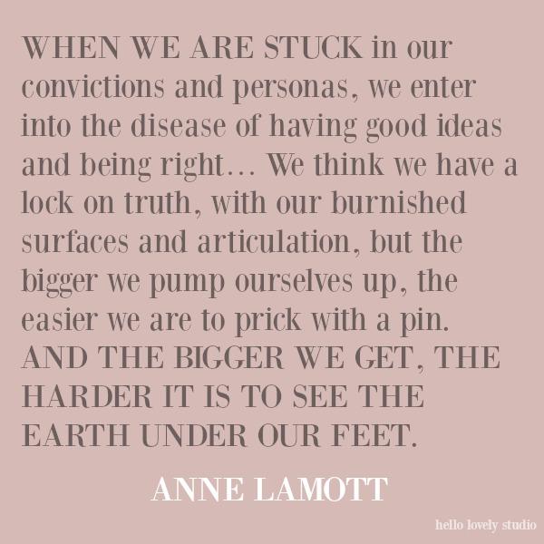 Inspirational spiritual awakening quote by Anne Lamott on Hello Lovely Studio. #quotes #annelamott #spirituality #spiritualformation
