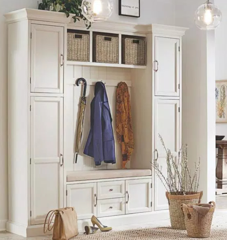 Storage unit for a mud room, entry, or bedroom without a closet! Royce Hall Tree is 79.25 in. tall - Home Depot