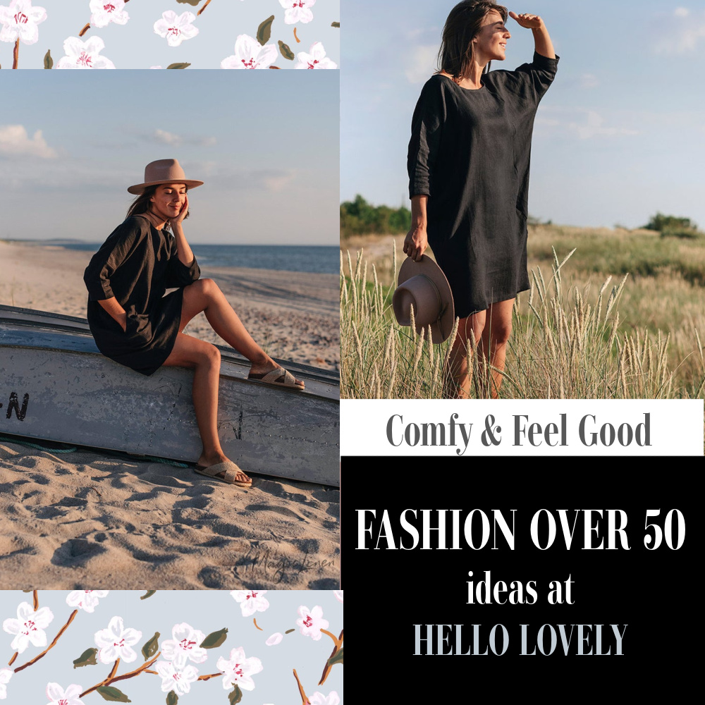 Comfy feel good Fashion Over 50 ideas at Hello Lovely - come explore layering pieces. #shopthelook #fashionover50 #over50fashion