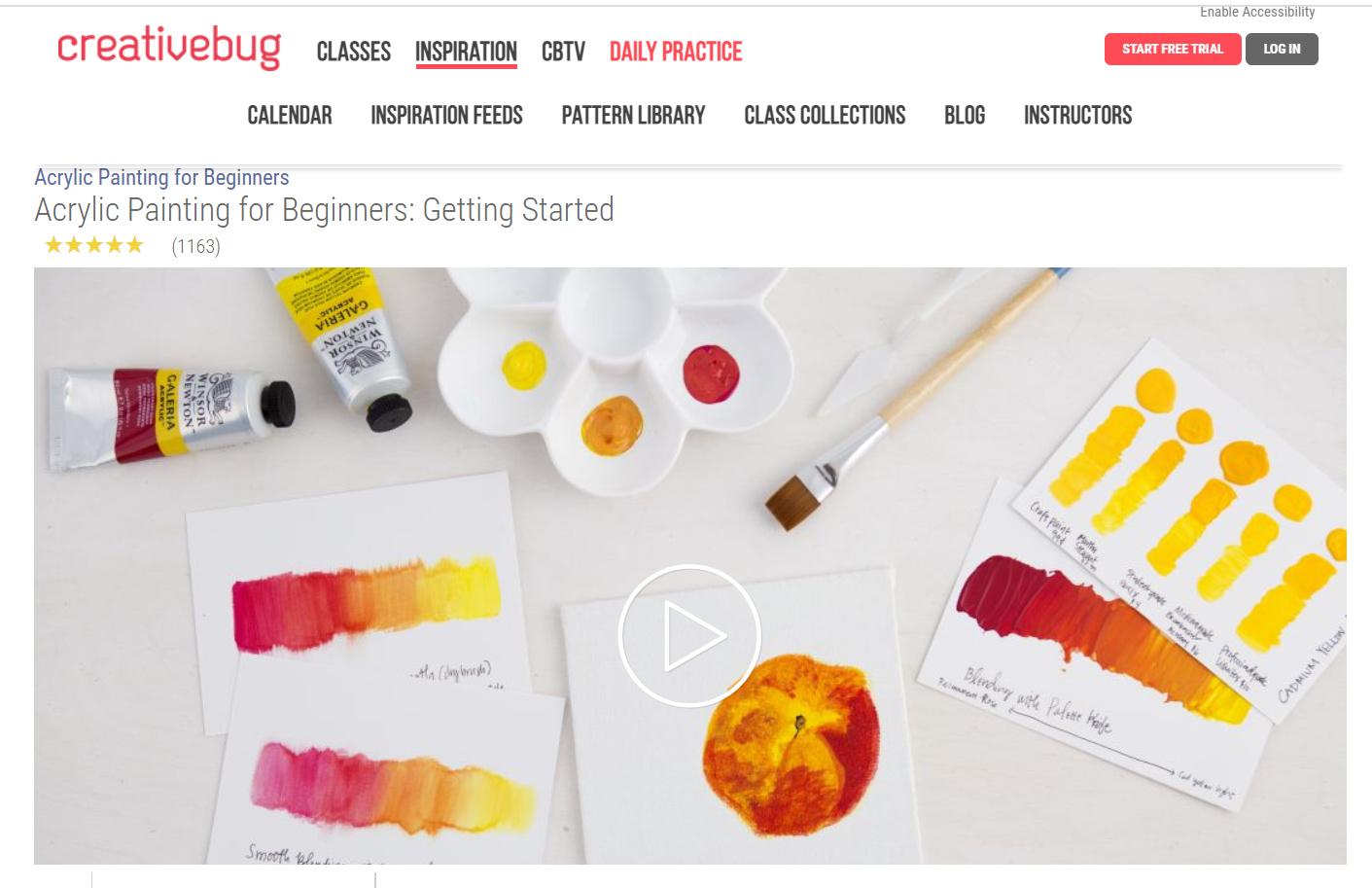 creativebug acrylic painting class