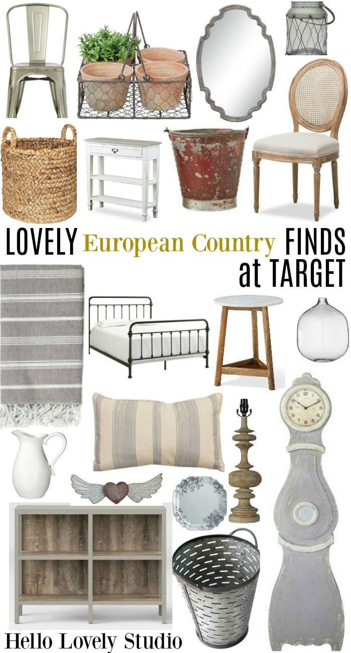 It really is possible to score low cost European country style decor for your home with these suggestions for shopping at Target! #hellolovelystudio #europeancountrydecor #europeancountry #interiordesign #homedecor #rusticdecor