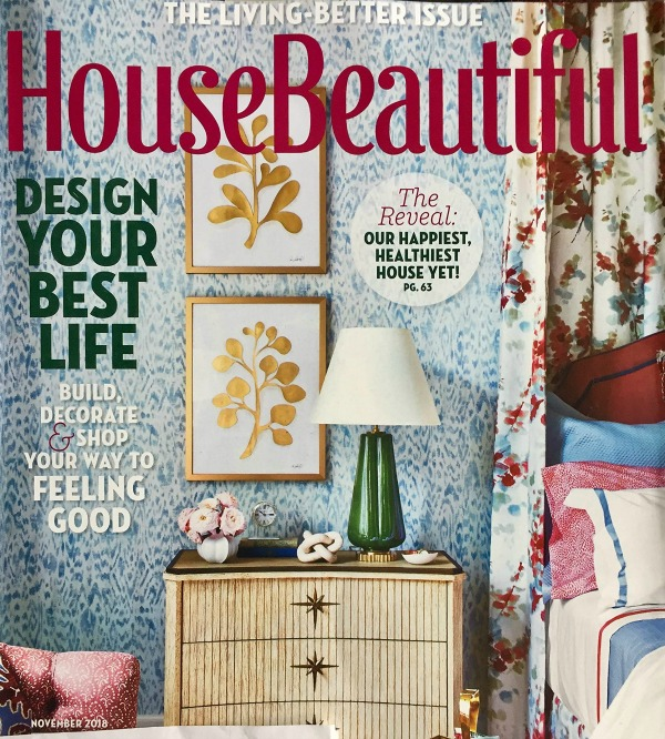 House Beautiful November 2018 cover.