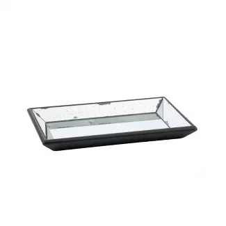 Vintage finished mirrored glass tray