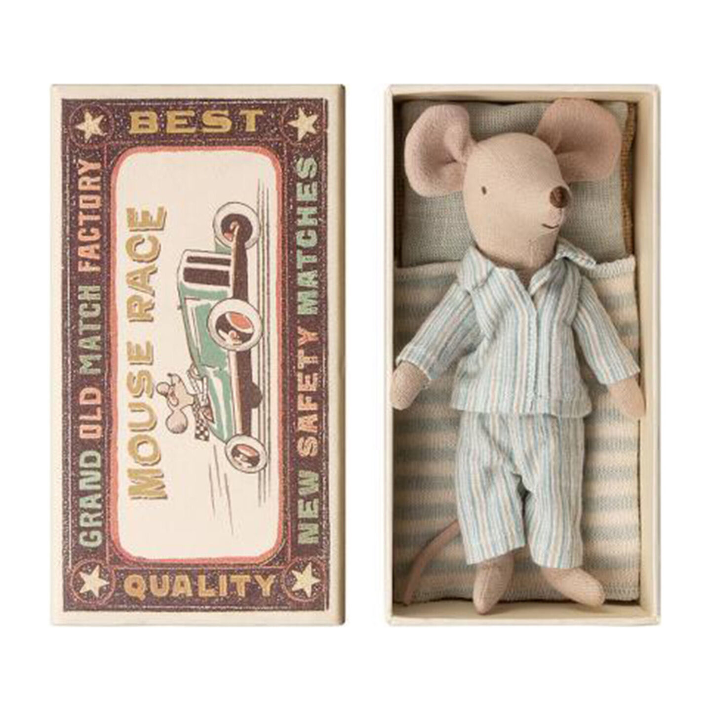 Maileg Big Brother Mouse in Pajamas Matchbox - Maisonette.