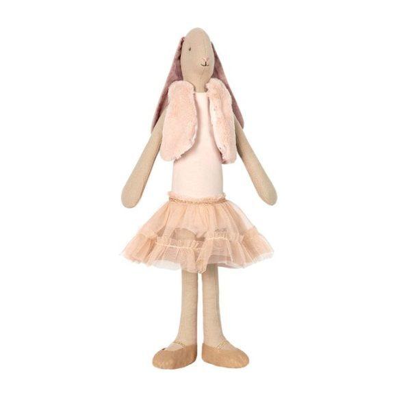 Maileg medium dance princess bunny with pink skirt and fur vest. #maileg #softtoys #bunnytoy