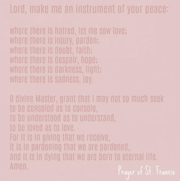 Prayer of St. Francis - Hello Lovely Studio