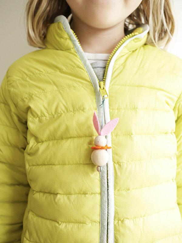 Sweet wood bead bunny kit with felt from Little Goose Toys. #springcrafts #easterbunny #eastercraft #bunnytoy