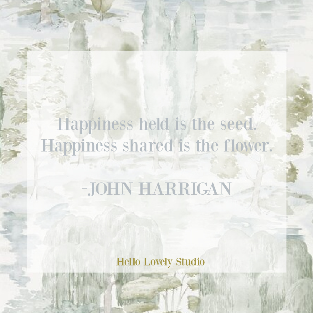 Spring inspirational quote about flowers and seeds on Hello Lovely Studio by John Harrigan. #flowerquotes #naturequotes #happinessquotes #encouragementquotes #springquotes
