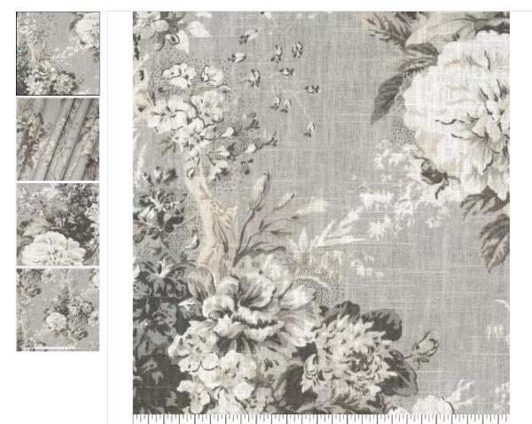 Waverly Ballad Bouquet in Platinum fabric