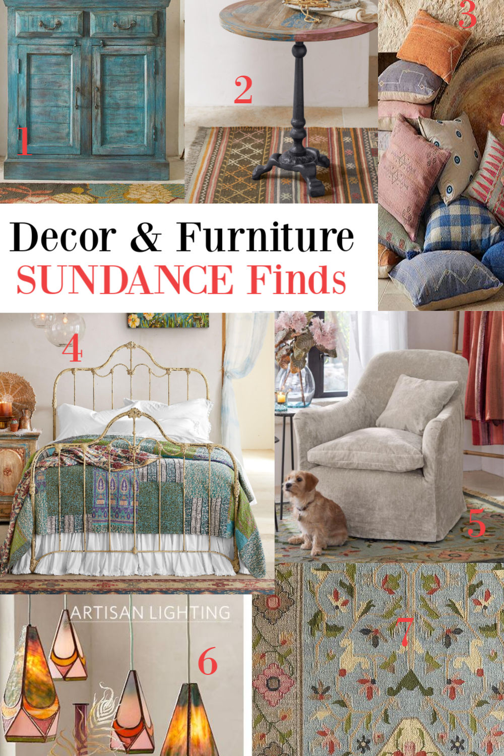 Sundance decor and furniture finds on Hello Lovely Studio. #homedecor #furniture #interiordesign #sundancecatalog