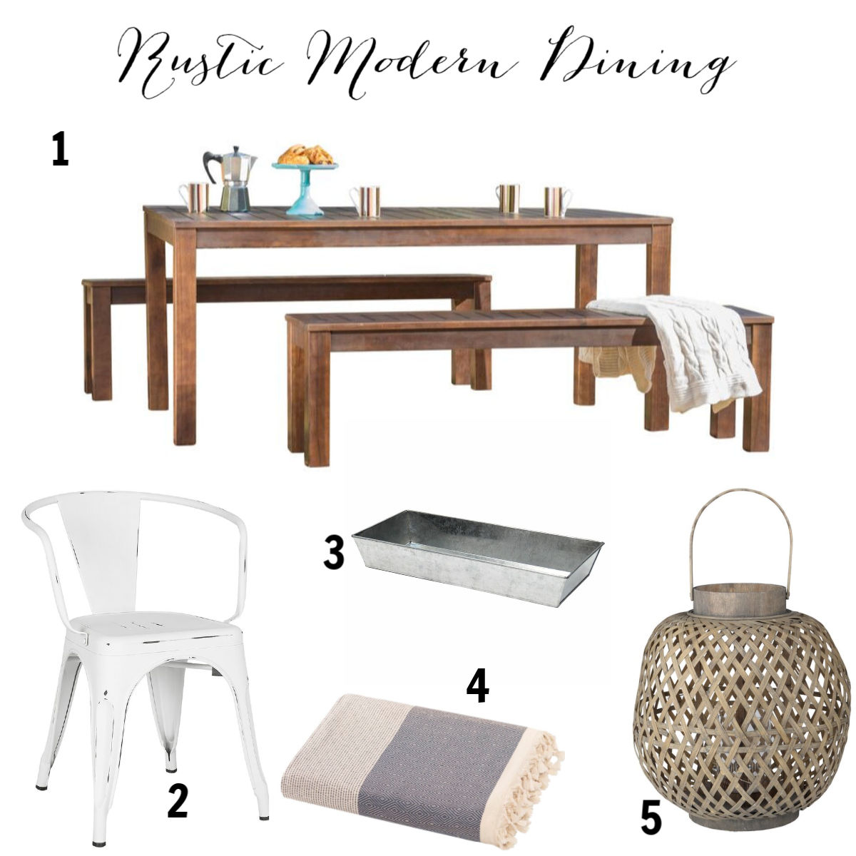 Modern Rustic Dining All Modern Outdoor Oasis Banner on Hello Lovely Studio