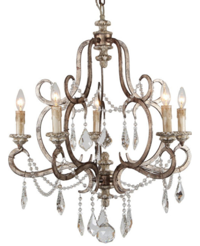Ballerina chandelier by Terracotta Lighting - a beautiful French country fixture with a pretty patina.
