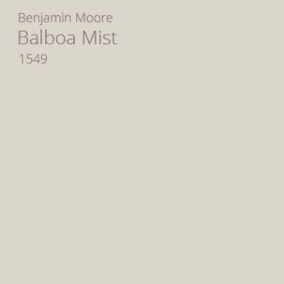 Benjamin Moore Balboa Mist paint color. #benjaminmoore #balboamist #paintcolors #neutralpaintcolors
