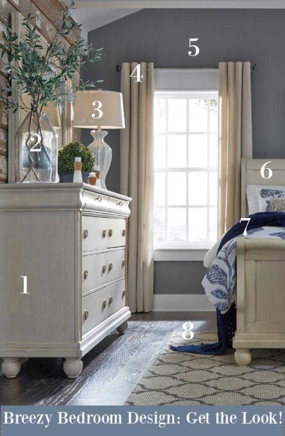 Breezy bedroom design: get the look - Hello Lovely Studio. #bedroomdecor #bedroomdesign #interiordesign #bedrooms #bedroomfurniture