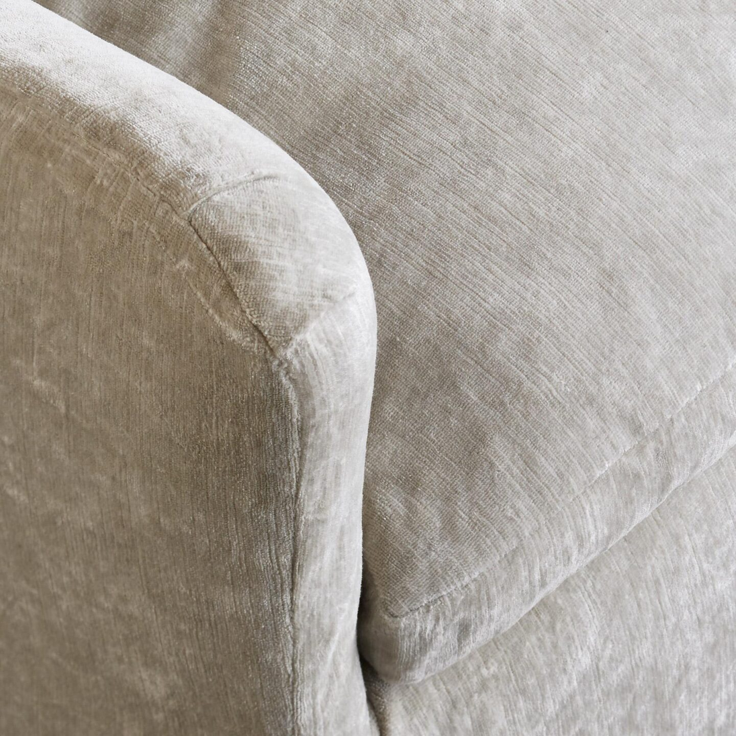 Detail of Deidre velvet club chair - Sundance.