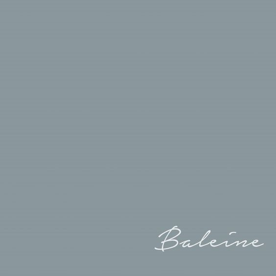 Beautiful blue grey French paint color Flamant Bailene - from France. #paintcolors #flamant #bailene