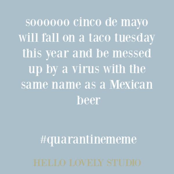 Funny meme and humor about quarantine on Hello Lovely Studio. #quarantinememe #covidhumor #pandemic2020 #memes #humor