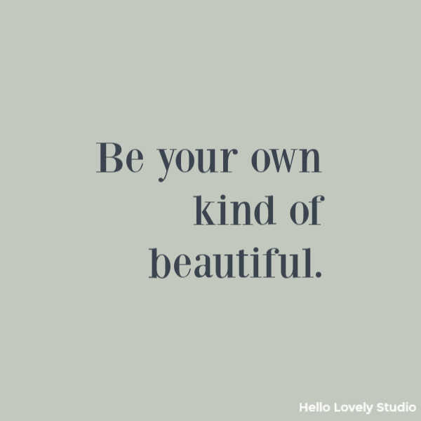 Inspirational quote about beauty on Hello Lovely Studio. #beautyquote #inspirationalquotes #quotes
