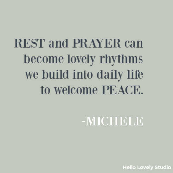 Inspirational quote about peace on Hello Lovely Studio. #peacequote #inspirationalquotes #quotes