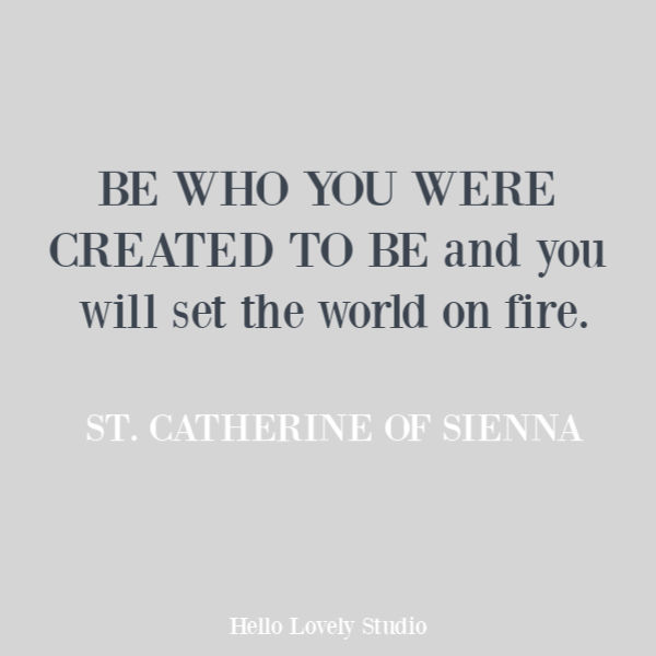 Inspirational quote and faith quote from St. Catherine of Sienna on Hello Lovely Studio. #quotes #faithquotes #Encouragement #christianity