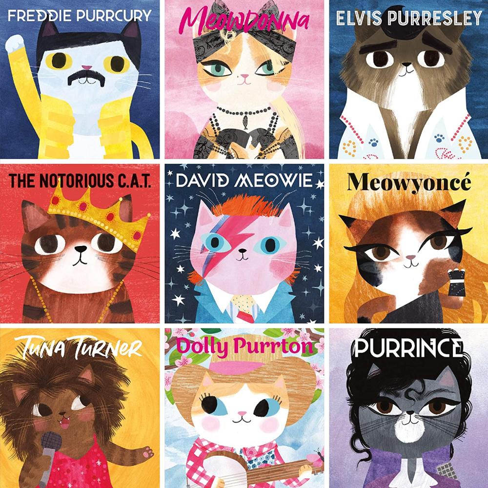 Whimsical cat illustrations - Mudpuppy Music Cats jigsaw puzzle.
