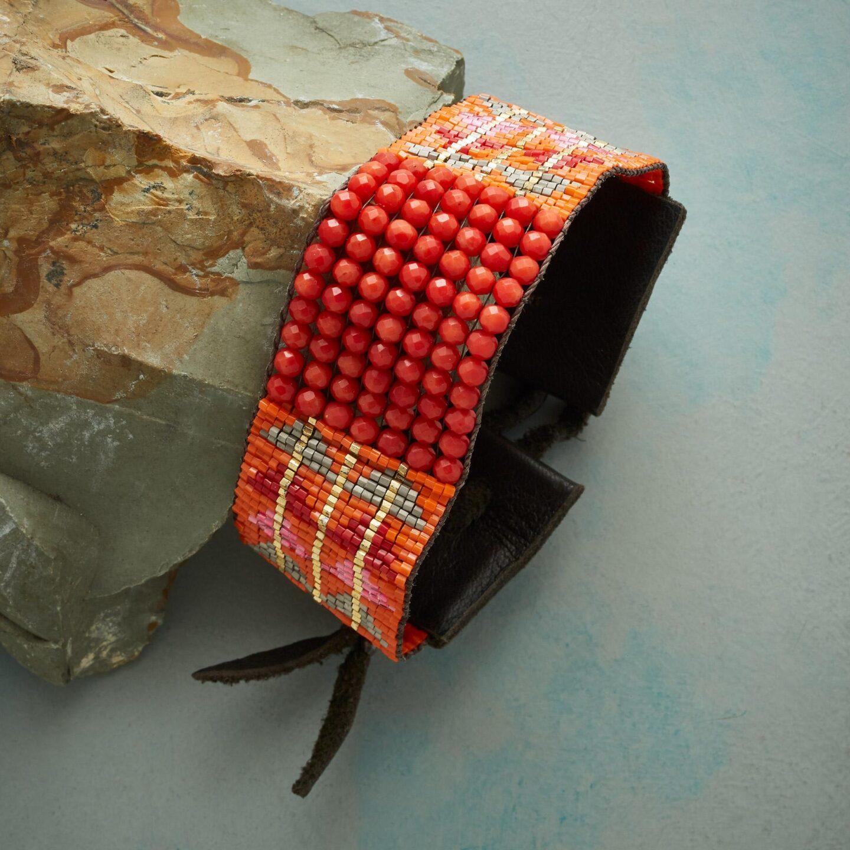 Naomi Herndon cactus flower beaded bracelet - Sundance catalog