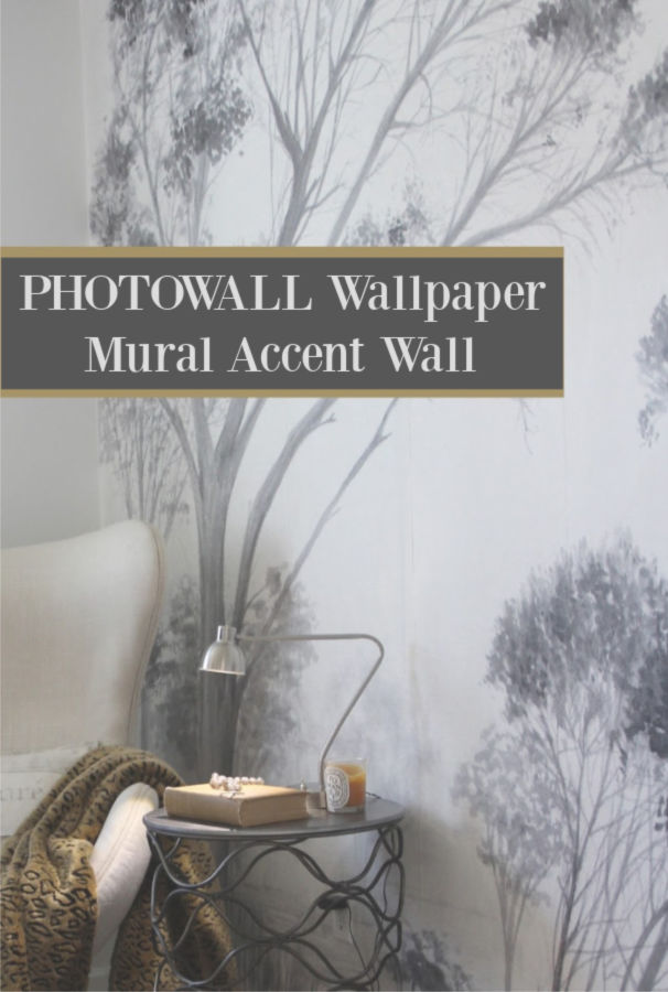 Photowall wallpaper mural accent wall - Hello Lovely Studio. #mural #wallpaper #interiordesign #photowall #grisaille